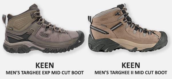 f2901e10d4d6 KEEN Targhee EXP compared to Targhee II - ShoeStores.com